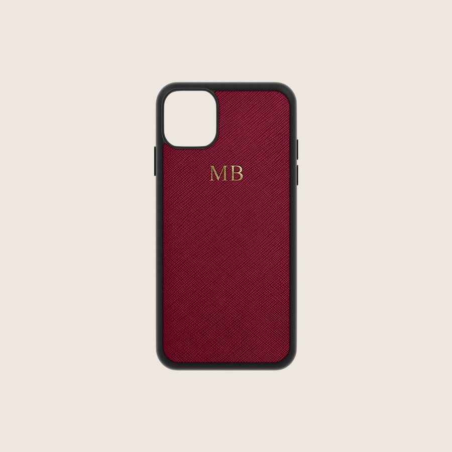 SAFFIANO BURGUNDY (iPhone X/ XS)