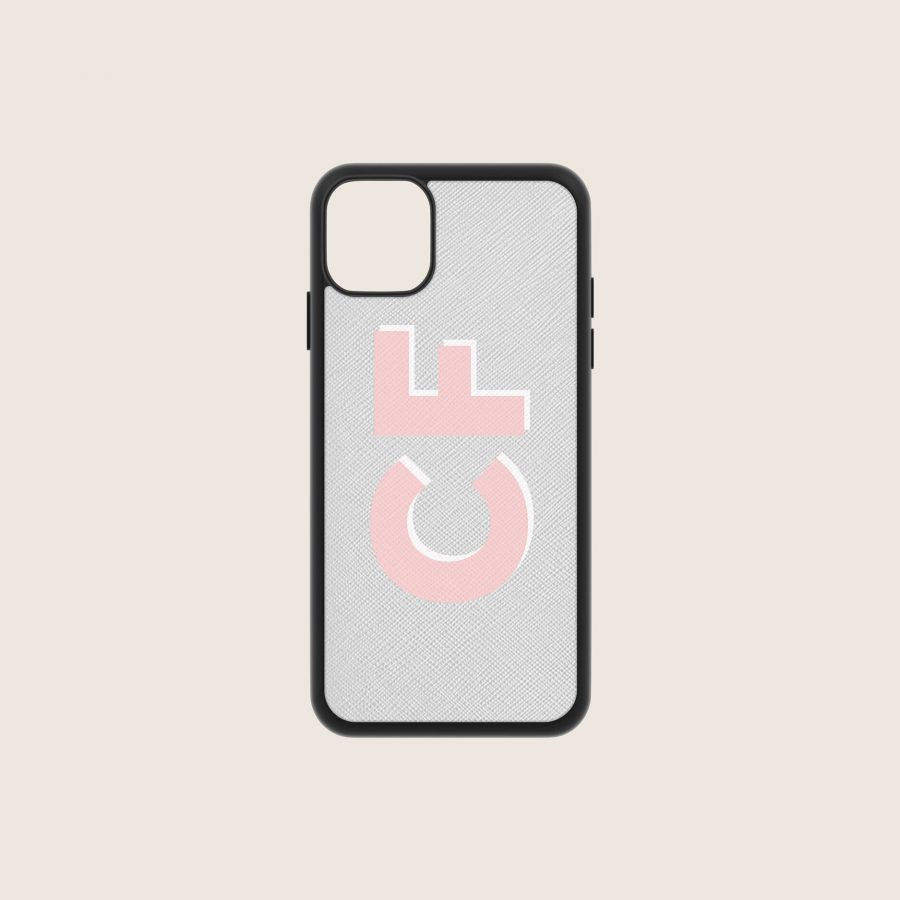 SAFFIANO GREY INITIALS (iPhone PRO MAX 11)