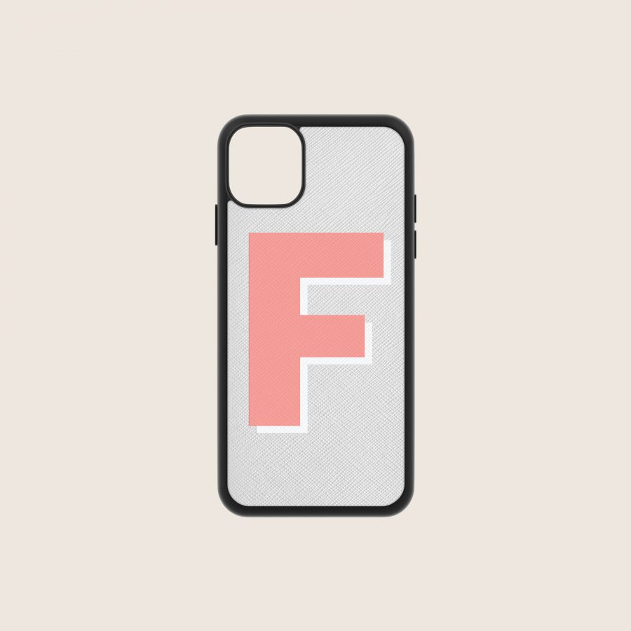 SAFFIANO GREY & CORAL (iPhone PRO MAX 11)