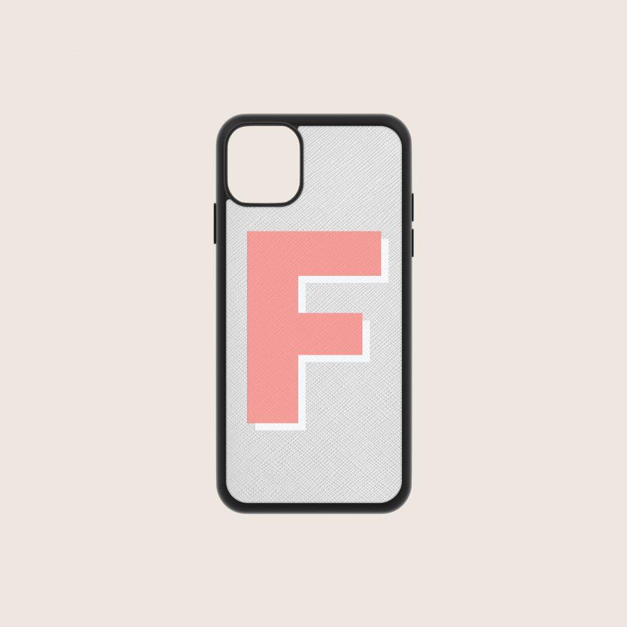 SAFFIANO GREY & CORAL (iPhone 11 Pro)