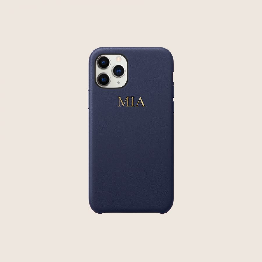 LEATHER NAVY (iPhone 12 Mini)