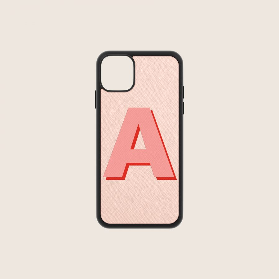 SAFFIANO PINK NUDE LETTER 1 (iPhone PRO MAX 11)