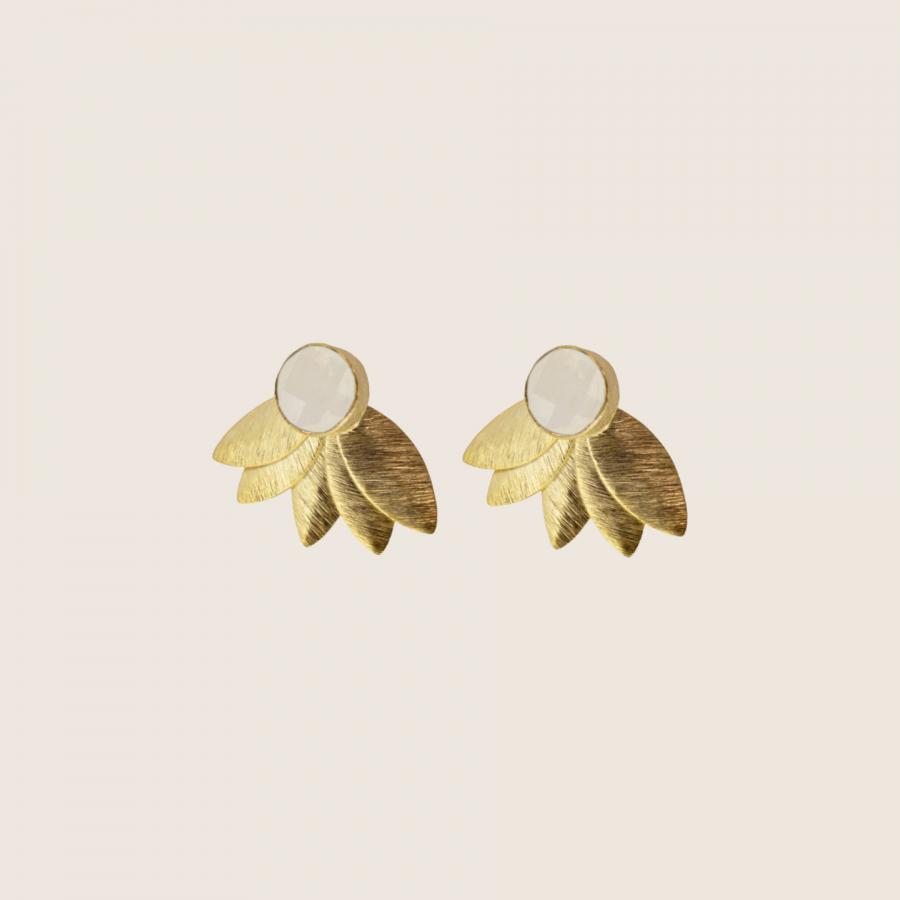 White Joan Earrings