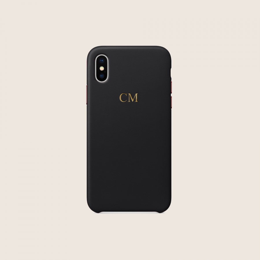 LEATHER BLACK (iPhone X/ XS)