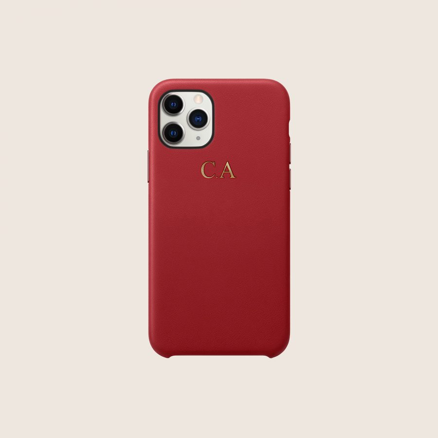 LEATHER RED (iPhone 12 Pro Max)