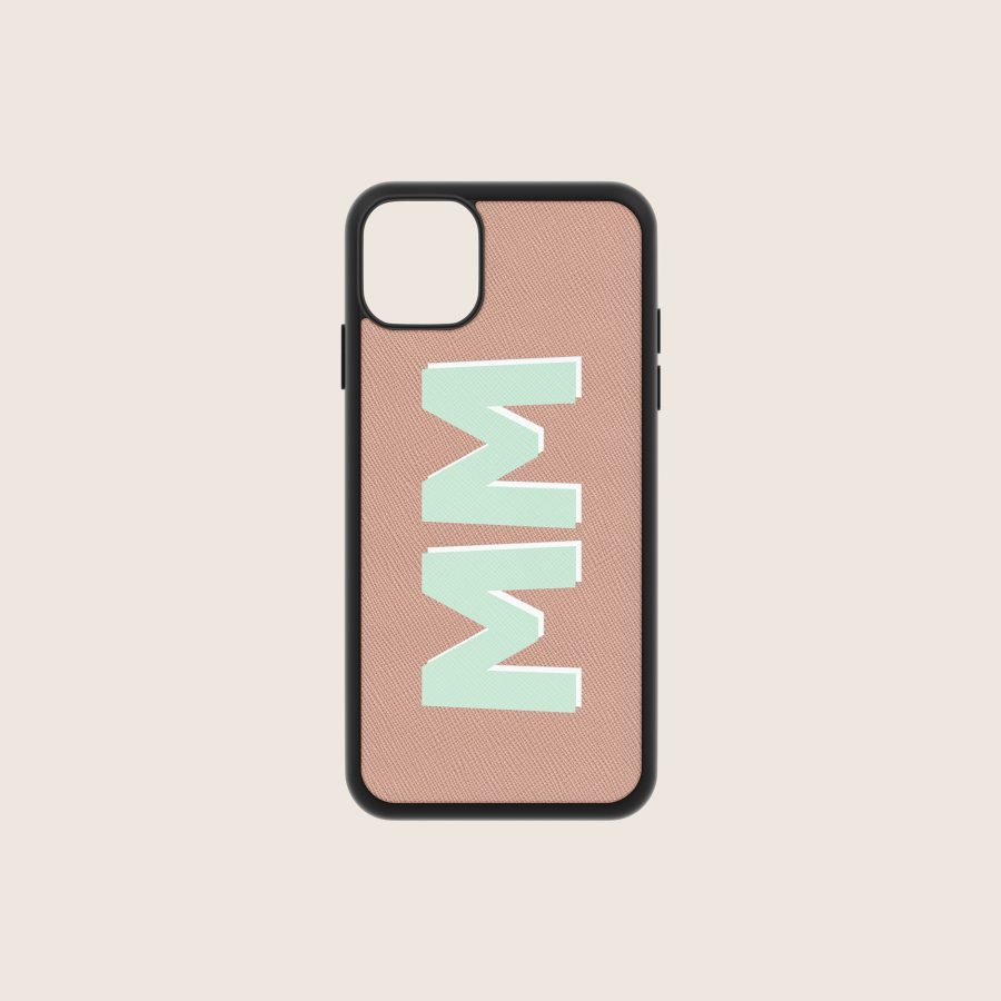SAFFIANO NUDE INITIALS (iPhone 12 Mini)