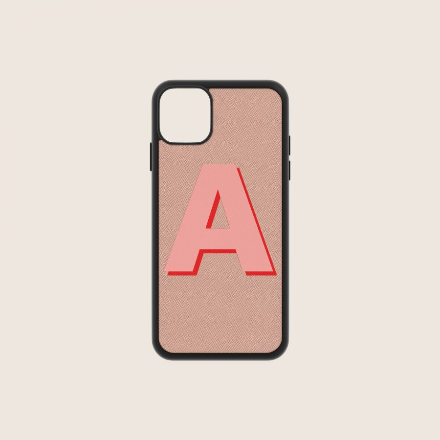 SAFFIANO NUDE LETTER 1 (iPhone 12 Mini)