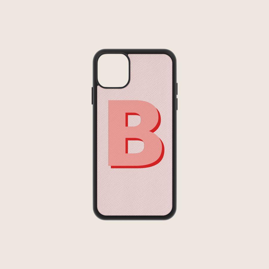 SAFFIANO NUDE LETTER 1 (iPhone 12/ 12 Pro)