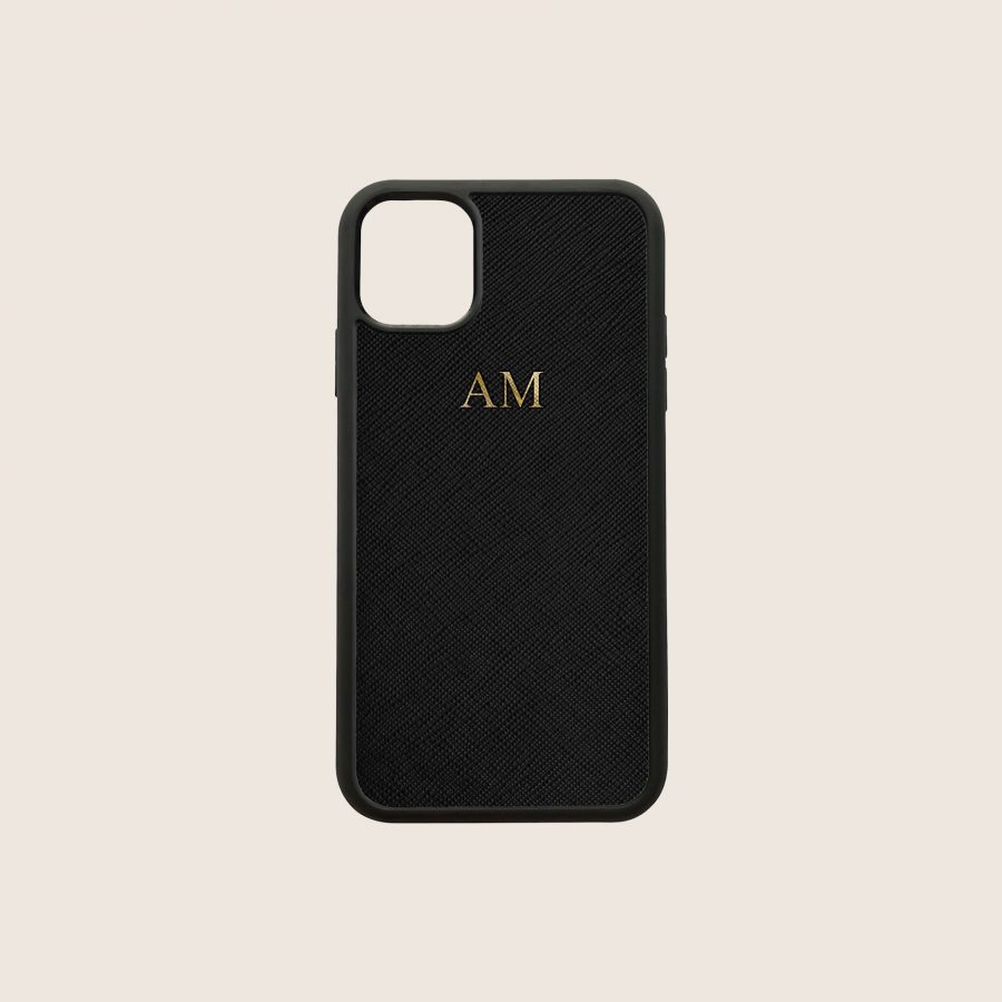 SAFFIANO BLACK (iPhone 12 Mini)