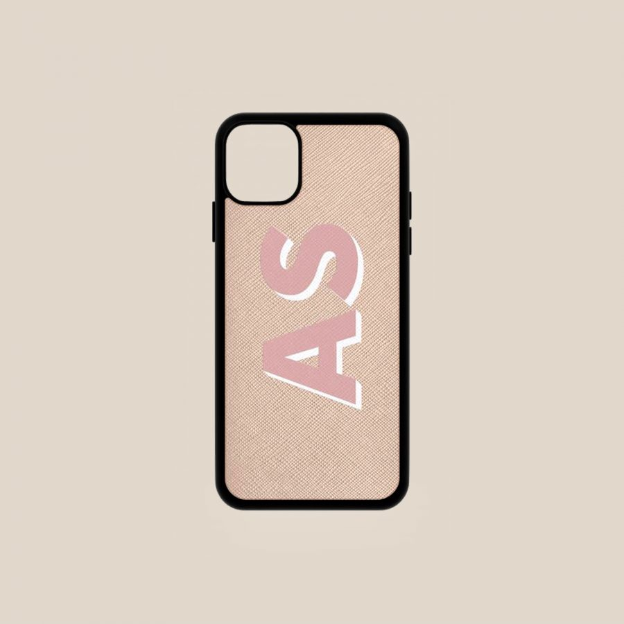 SAFFIANO NUDE & PINK (iPhone 11)