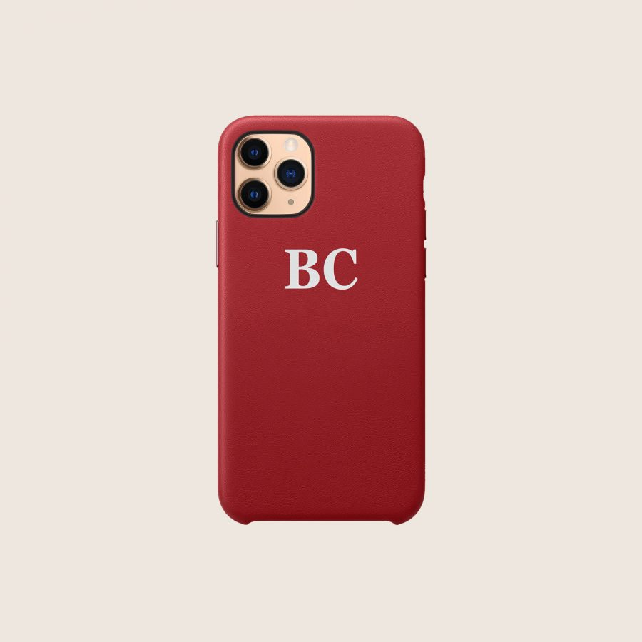 LEATHER RED & WHITE (iPhone 12 Pro Max)