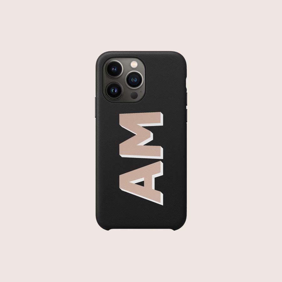 LEATHER BLACK & NUDE (iPhone 13 Pro)